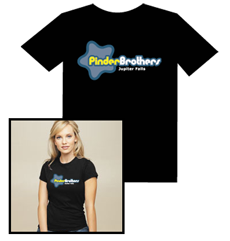 Pinder Brothers Logo T-Shirt-Womens fitted (Black)