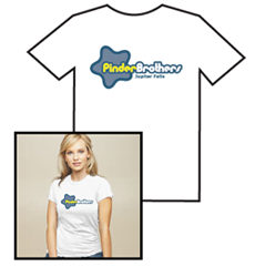 Pinder Brothers Logo T-Shirt-Womens fitted (White)